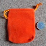 pochette en velour orange