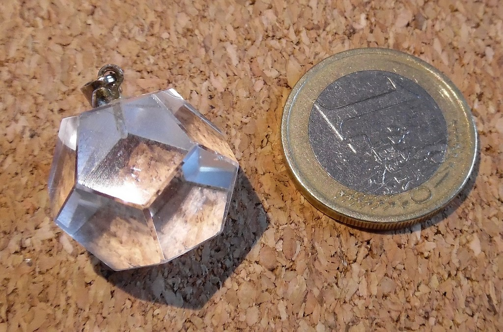 Pendentif Dod/éca/èdre en Cristal de Roche
